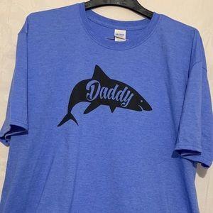 New 2XL shark daddy blue T-shirt